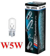 """Лампа 12V W5W цоколь- W2,1x9,5D  """"ТЕСЛА"""""""