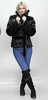 Женская искусственная темно-коричневая шуба  под норку Шадэ 42-48 размеры