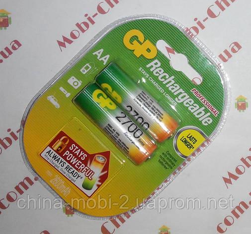 Аккумулятор GP, 2700mAh, HR6, AA, NiMN, Rechargeable R-6, фото 2