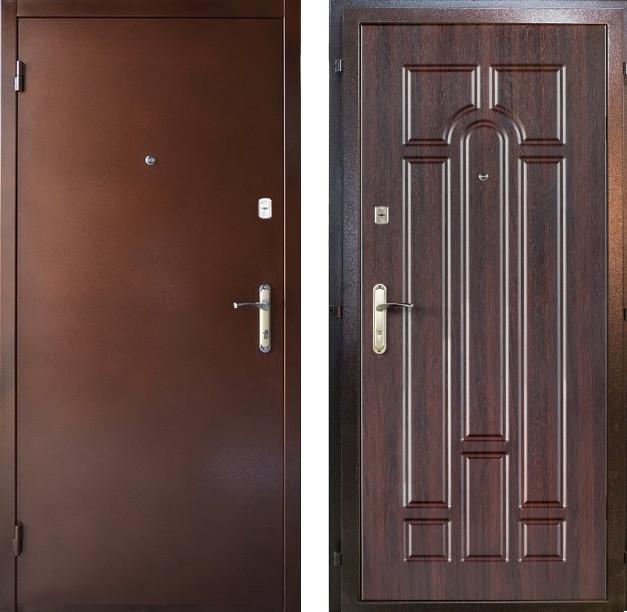 Наружные входные двери Редфорт Арка метал/МДФ на улицу