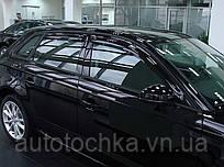 Дефлектора окон (ветровики) AUDI A3/S3, 2005-, 4ч., темный