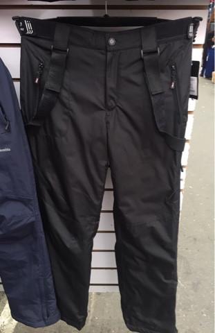 Теплые штаны мужские для лыж и сноубординга с подтяжками, р. XL