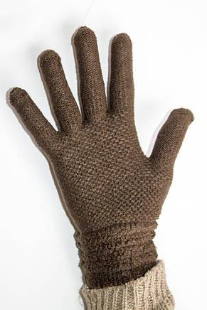 Вязаные перчатки темно-коричневый, фото 3