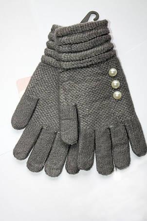 Вязаные перчатки темно-серые, фото 2