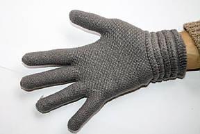 Вязаные перчатки темно-серые, фото 3