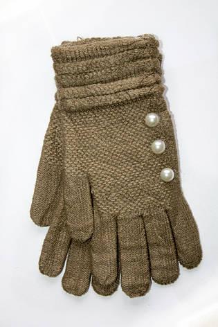 Вязаные перчатки светло-коричневый, фото 2
