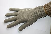Вязаные перчатки Светло-серые, фото 1