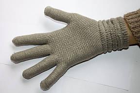 Вязаные перчатки Светло-серые, фото 2