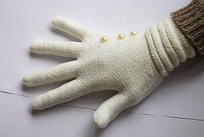 Вязаные перчатки Белый, фото 2