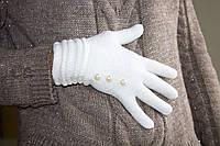 Вязаные перчатки Белый, фото 1