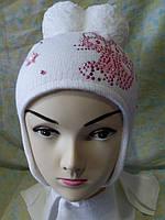 """Комплект детский зимний с шарфом """" Кошечка """" девочка."""
