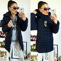 Куртка зимняя, модель  212, темно-синий 52