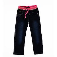 Утепленные джинсы свободного кроя для девочек