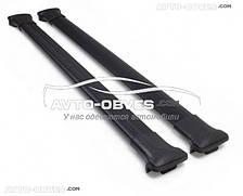 Поперечины на рейлинги черные для Toyota Prado 150