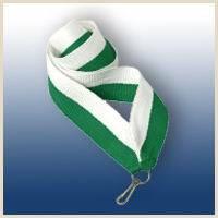 Лента бело-зеленая