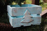 Ящичек Новогодний голубая елка
