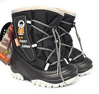 Детские зимние сапоги-дутики Demar (Демар) Happy Eskimo черные р.20--29 теплющие, есть опт