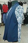 Блуза двійка синя, кардиган бл 052 розміри 50-54, фото 4
