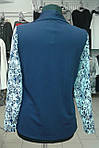 Блуза двойка синяя, кардиган  бл 052 размеры 50-54, фото 5