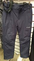 Мужские брюки для лыж и сноубординга с подтяжками до 50р-ра