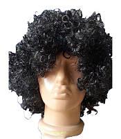 Парик кудрявые волосы черный