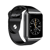 Часы Smart watch A1 для iOS/Android Black (смарт часы)