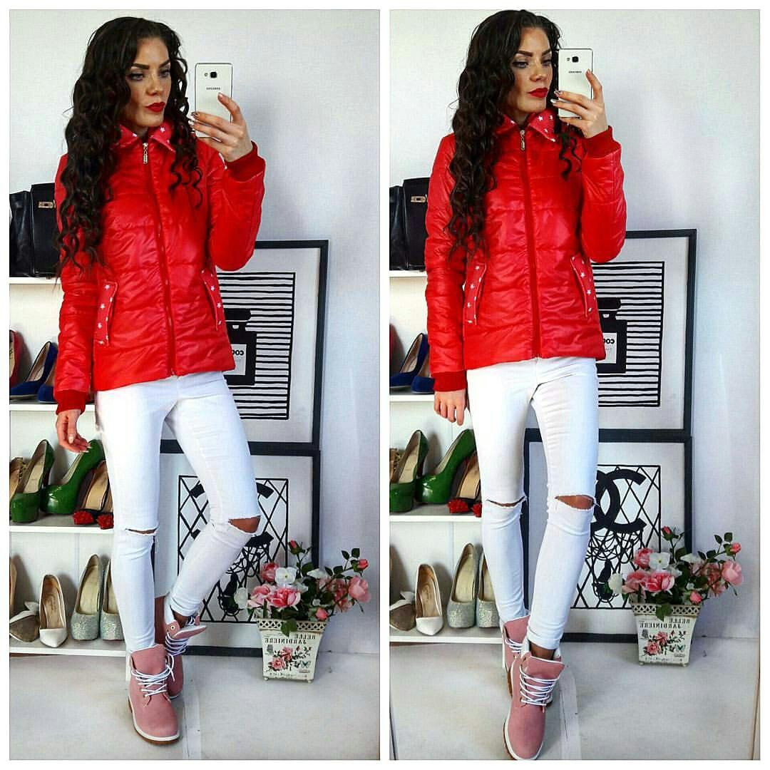 Куртка демисезонная, модель  219, красный