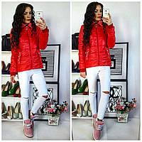 Куртка тонкая, модель  219, красный 46
