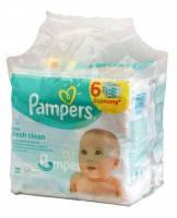 Детские влажные салфетки Pampers Fresh Clean Economy 6*64 шт