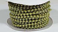 Бусины Жемчужные Оливковые 4 мм на нитке на бобине 1 м