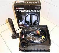 Беспроводные наушники MH2001 с микрофоном,  + FM радио DC-2001, компьютерные, аудиотехника