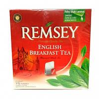 Чай в пакетиках Remsey черный английский завтрак 75 шт