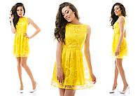 Нарядное платье из органзы с цветами с подкладкой