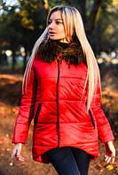 """Зимняя женская куртка на синтепоне """"Saige"""" со съемным мехом (5 цветов)"""