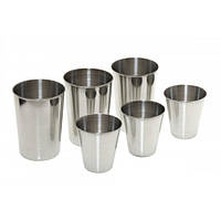 Набор стаканов из нержавеющей стали 60 мл, 150 мл Fasten