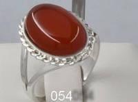 Кольцо серебряное с сердолик