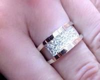 Кольцо серебряное с янтарь