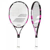 Детская теннисная ракетка Babolat Pure drive Jr 25 black/pink 2015 (140159/178)