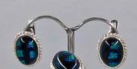Серьги из серебра 054 муранское стекло