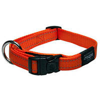 Ошейник для собак утилитарность, оранжевый, ROGZ L, 34-56 см