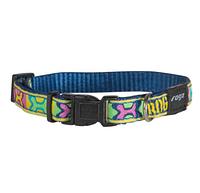 Ошейник для собак фенси принт поп-арт, синий, ROGZ XXL, 50-80 см