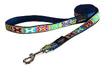 Поводок для собак фенси принт поп-арт, синий, ROGZ XXL, 0,5 м