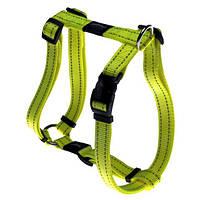 Шлея для собак утилитарность, желтый, ROGZ S, 20-37 см