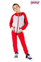 Спортивный костюм двойка для мальчика 6-8 лет (р. 100-120) ТМ Kids Couture Красный с серым