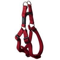Шлея степ для собак утилитарность, красный, ROGZ S, 27-38 см