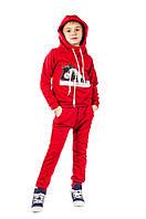 Трикотажный спортивный костюм двойка Кед для мальчика 5-12 лет (Разм. 110-140) ТМ Kids Couture Красный