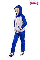 Трикотажный спортивный костюм на змейке для мальчика 5-10 лет (Разм. 30-34) ТМ Kids Couture Синий