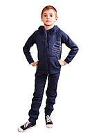 Флисовый спортивный костюм на змейке для мальчика 5-12 лет (Разм. 30-38) ТМ Kids Couture Синий