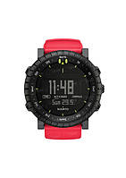 Часы Suunto CORE all black + red crush rubber strap