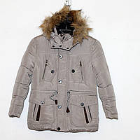 Куртка болоньевая на силиконе  Арт.1601 беж  Разм.128-146